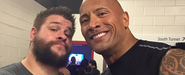 The Rock Kevin Owens
